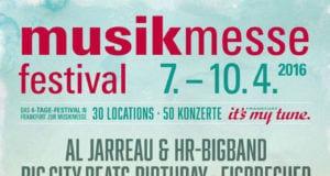 Musikmesse Festival 2016-Plakat